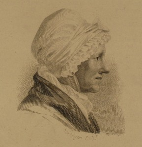 Portrait of Mrs Weir, from Dibdin's 1817 'Bibliographical Decameron', volume 2, p. 518